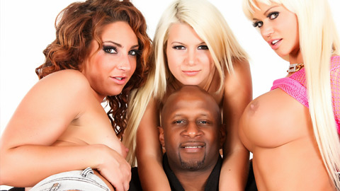 Fourway orgy with hot white chicks and one black dick  fourway orgy with hot white chicks and one great black dick. Four-way orgy with hot white chicks and one considerable black tool